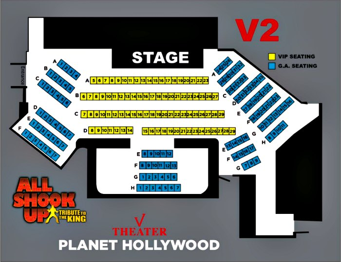 All Shook Up Las Vegas Seating Chart