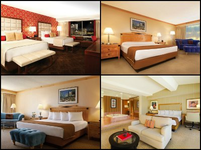 Rooms at Bally's Hotel in Las Vegas