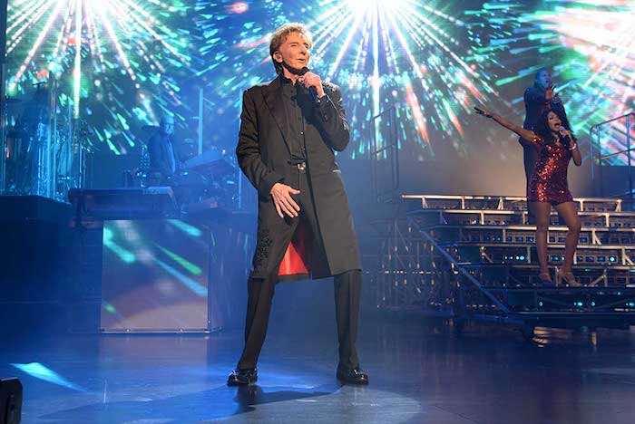 Barry Manilow performing in Las Vegas