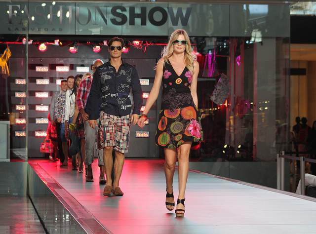 Catwalk show at Fashion show Mall Las Vegas