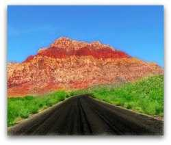 Red Rock Canyon, located not far from Las Vegas