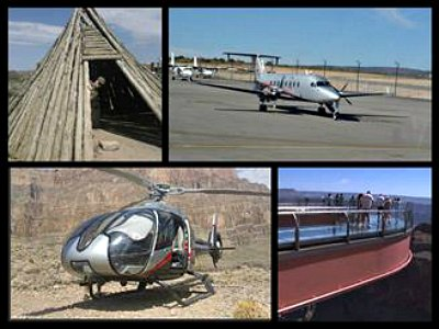 Deluxe Grand Canyon flight tours To West Rim with Optional Helicopter Tour