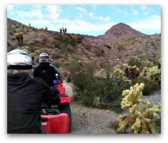 riding ATV at El Dorado Canyon near  Las Vegas
