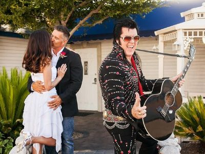 Elvis Wedding At Graceland Chapel Las Vegas