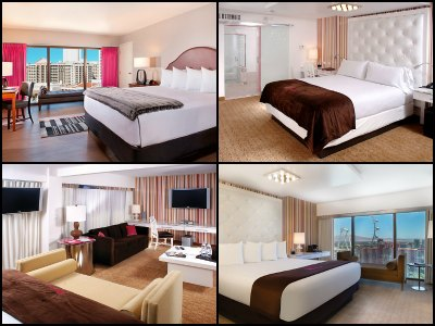 Rooms at the Flamingo Hotel in Las Vegas