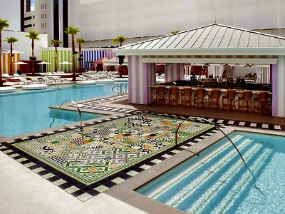 Las Vegas Foxtail pool at SLS