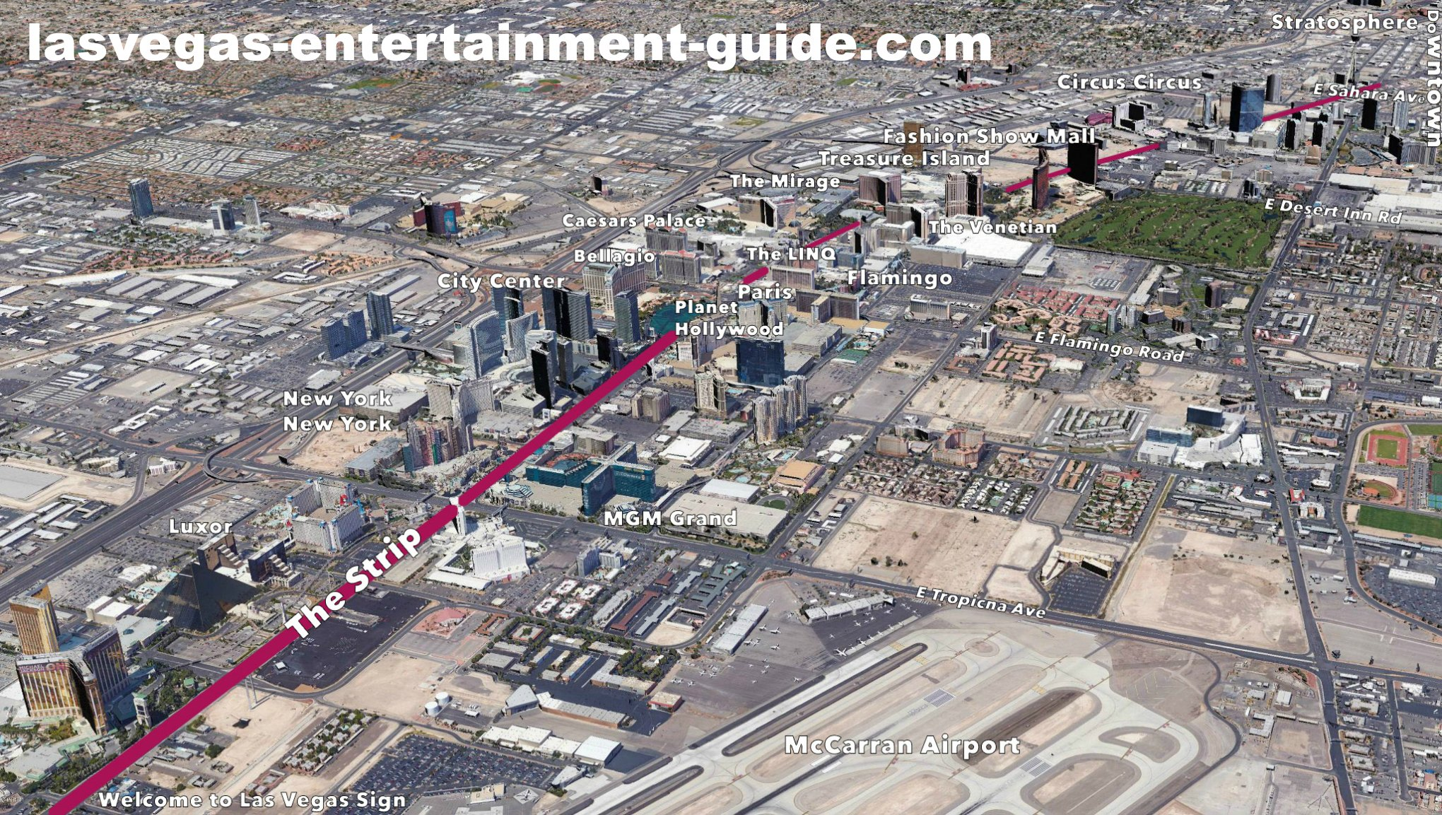 best las vegas strip maps