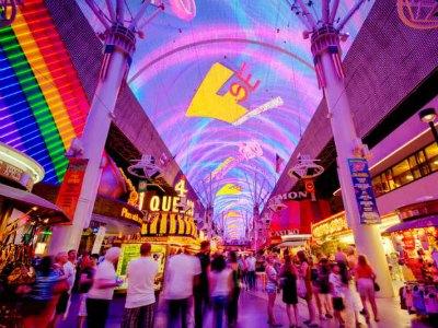 Fremont Street Experience light show - Viva Vision