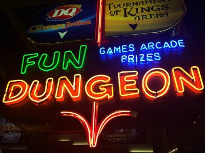 Fun Dungeon at Excalibur in Las vegas with Kids