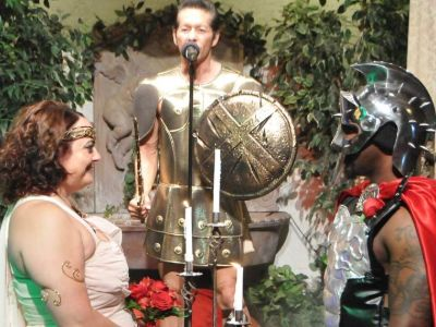 The Gladiator Themed Wedding Package In Las Vegas Offers Couples Perfect Way To Add Some Drama And Fun Their Ceremony Is Performed