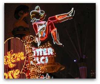 Glitter Gulch Las Vegas strip club sign