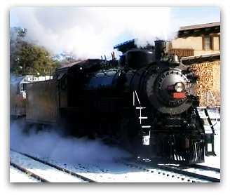 Grand Canyon train in winter