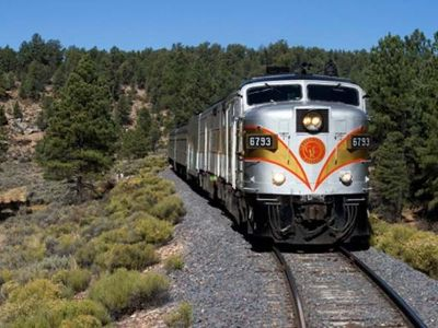 Authentic train running between Williams and the Grand Canyon