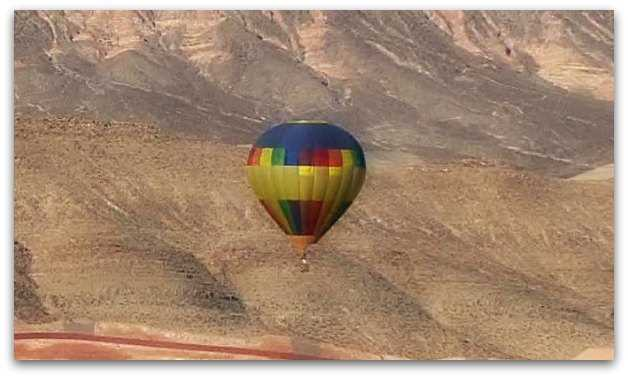 Hot air balloon over Las Vegas