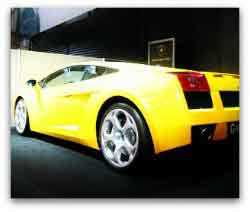 Yellow Lamborghini - exotic car driving experience in Las Vegas