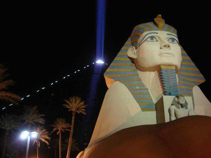 Sky Beam at Luxor hotel in Las Vegas