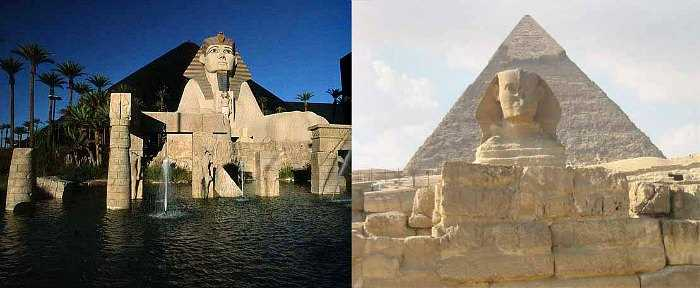 Luxor in Las Vegas vs. the Real Pyramid of Khafre in Gizaorder