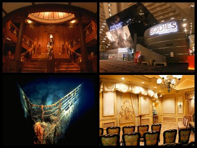 The Titanic exhibition at the Luxor Hotel in Las Vegas