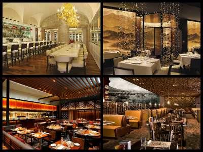 Restaurants at the Mirage Hotel in Las Vegas