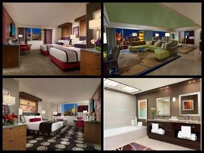 Rooms at the Mirage Hotel in Las Vegas