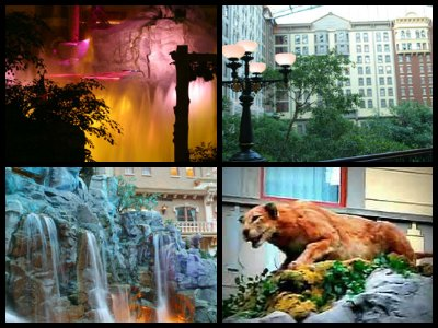 Animatronic lioness at the Mystic Falls Park at Sam's Town Hotel in Las Vegas