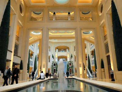 Shopping at the Palazzo Hotel in Las Vegas