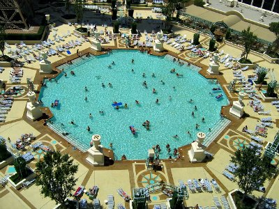 Pools at the Paris Hotel in Las Vegas
