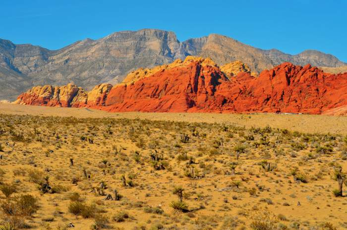 Panoramic view of the Red Rock Canyon from the Visitors Center