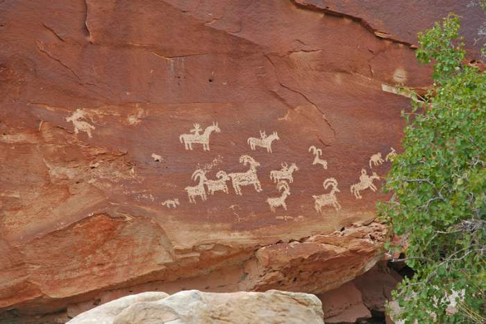 Indian cave art found in the Red Rock Canyon