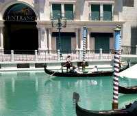 gondolas at the Venetian hotel in Las Vegas