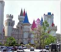 Excalibur hotel - one of sights seen during scavenger hunt tours