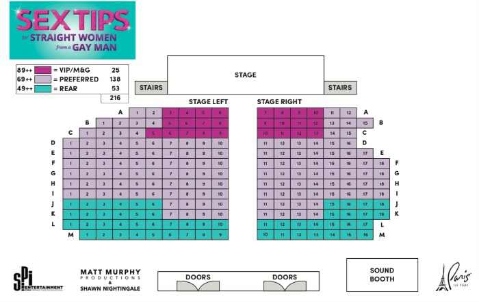 Sex Tips For Straight Women from Gay Man Seating Chart Las Vegas