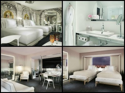 Rooms at SLS Hotel in Las Vegas