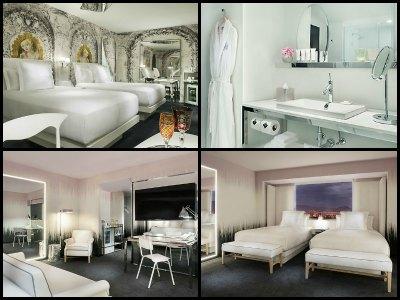 Rooms at SLS Hotel in Las Vegas