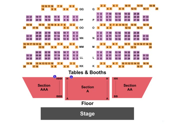 The Righteous Brothers Seating Chart