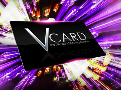 V card for Las Vegas night clubs