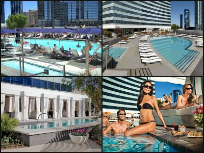 Pools at Vdara Hotel in Las Vegas