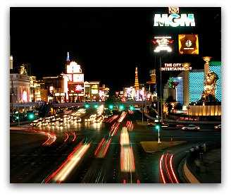 Las Vegas with neon lights