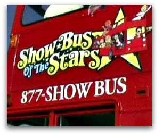 rear side of the Las Vegas bus of the Stars