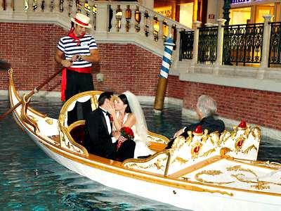 Gondola Wedding at the Venetian Hotel Las Vegas