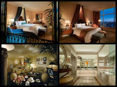 Rooms at the Venetian Hotel in Las Vegas