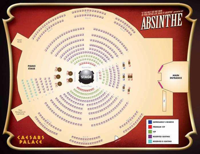 Absinthe Las Vegas Seating Chart