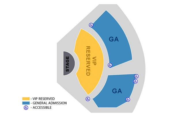 Xavier Mortimer's Las Vegas seating chart