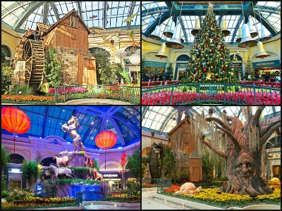 The Conservatory and Botanical Gardens at Bellagio Hotel in Las Vegas