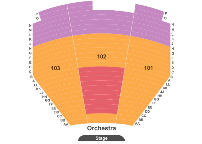 Boyz II Men Las Vegas seating chart