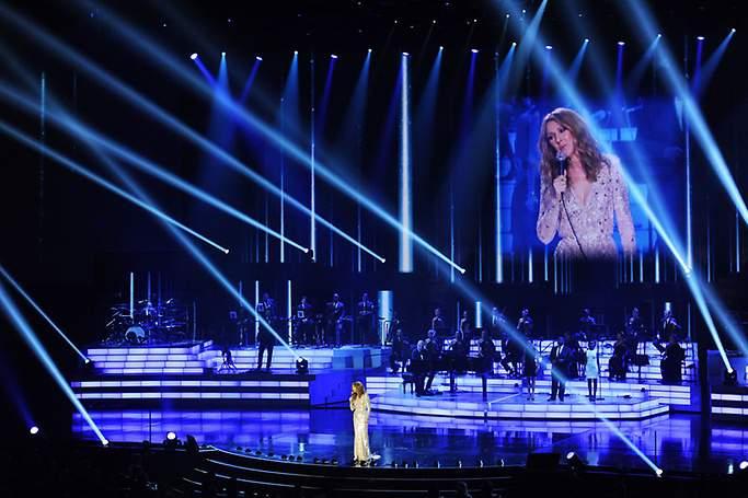 Celine Dion performing in Las Vegas