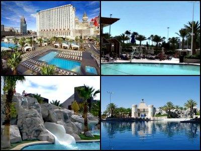 Pools at Excalibur Hotel in Las Vegas
