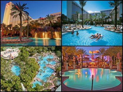 Pools at the Flamingo Hotel in Las Vegas