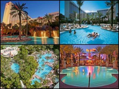 Pools at the Flamingo Hotel in Las Vegas