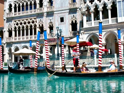 Gondola Rides at the Venetian in Las Vegas